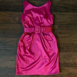 Pink mini cocktail dress